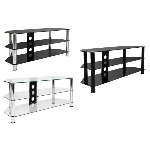 Mountright Modern Large Glass TV Stand 120 CM Wide