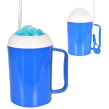 Slushy Ice Maker Cup with Spoon Straw for Kids Plastic Material