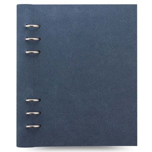 Filofax Clipbook Architexture A5 Notebook Blue Suede Effect Leather-Look Cover
