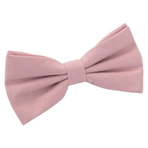Dusty Pink Suede Pre-Tied Bow Tie