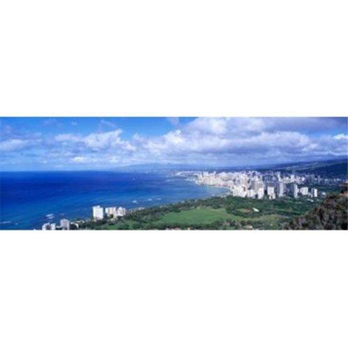 Waikiki Honolulu Oahu HI USA Poster Print by  - 36 x 12