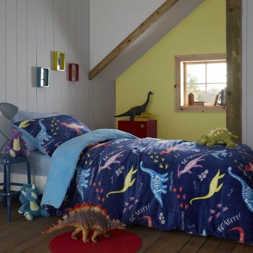 Dinosaur Roar Flannel Sherpa Duvet Set