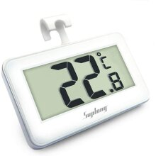 Fridge Thermometer Digital Fridge Freezer Thermometer,  Digital Waterproof Refrigerator Thermometer With Easy to Read LCD Display