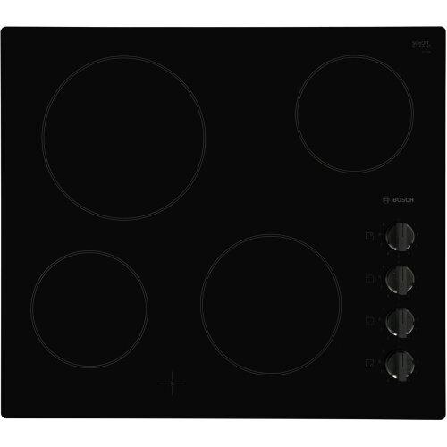 Bosch PKE611CA1E Serie 2 59cm 4 Burners Ceramic Hob Black