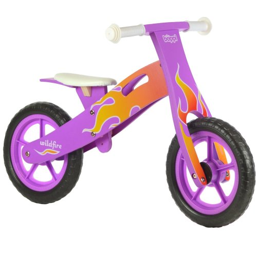 boppi® Kids Wooden Balance Bike - 3, 4 and 5 years - Purple Flame