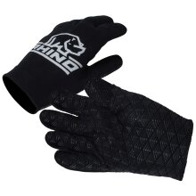 Rhino Pro Full Finger Stick Mitts Rugby Sport Player Hand Protection Glove Black (UK2020)
