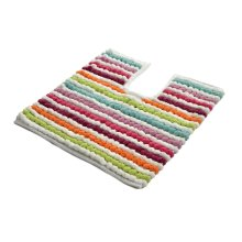Allure Bath Fashions Toilet Mat for Pedestal Extra Thick California 2200gsm Heavy Supreme Supersoft Pedestal Mats Size 50 x 50cm in Multi Brights...