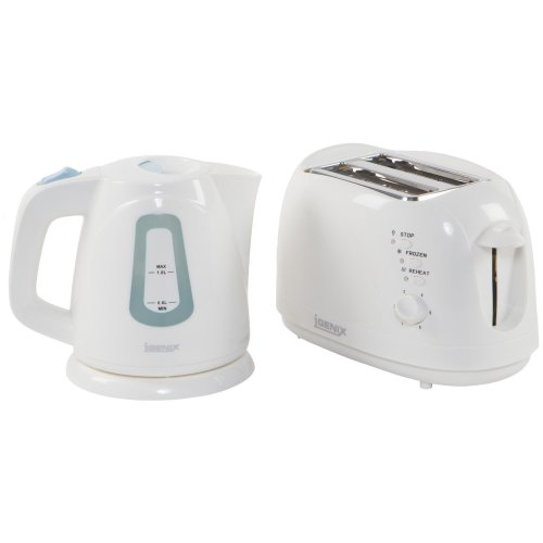 Igenix Kettle and 2 Slice Toaster | Breakfast Set (White)