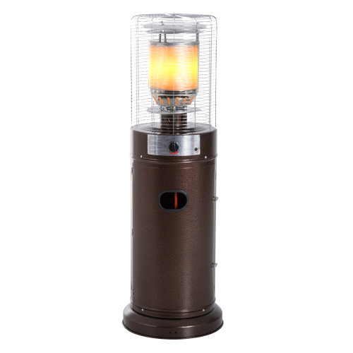 Outsunny Outdoor Gas Patio Heater 5-11kW Freestanding Metal Casing w/ Safety