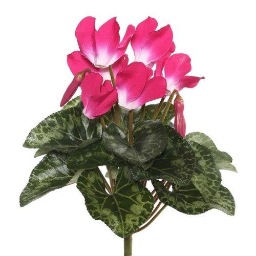 Vickerman FL170701 Beauty Cyclamen X8 Floral Bush - 11 in.