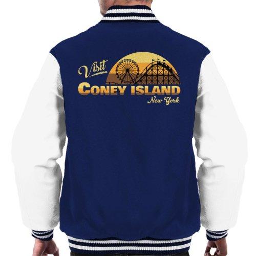 Visit Coney Island Retro New York Men's Varsity Jacket