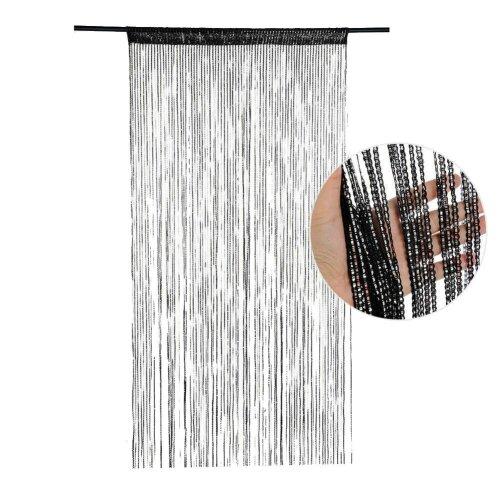 (BK) Door And Window Panel Fly Screen Fringe Room Screen Tassel Panel