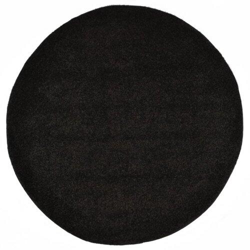 vidaXL Shaggy Area Rug Black Home Living Room Bedroom Kitchen Hallway Carpet