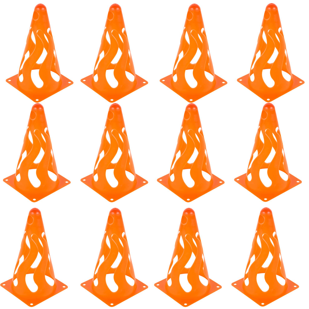 URBN Toys 12 PCS Kids Childrens Orange Traffic Cone Game Play Set