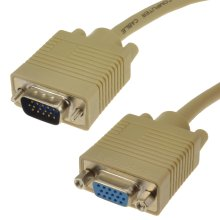 kenable SVGA Cable HD15 Extension Cable Male to Female  0.5m Beige