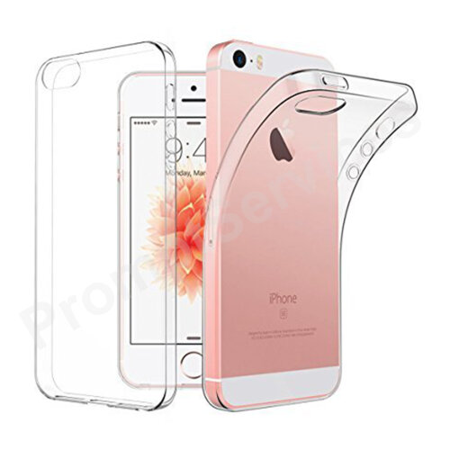 CLEAR Case For iPhone 5 / 5S / SE (2016) Ultra Slim Silicone Gel Protective Cover