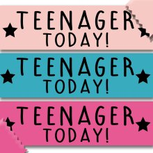 Teenager Today sash 13th 13 - Many Colours!
