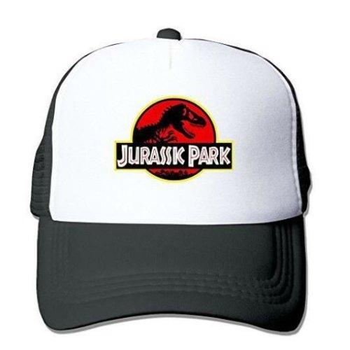 Adult Unisex Jurassic Park Original Logo 100% Nylon Mesh Caps