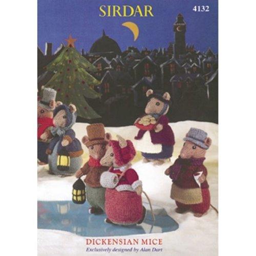 Alan Dart Sirdar Dickensian Mice Knitting Pattern