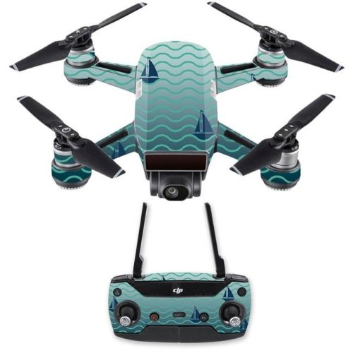 Mightyskins DJSPCMB-Smooth Sailing Skin Decal for DJI Spark Mini Drone Combo - Smooth Sailing