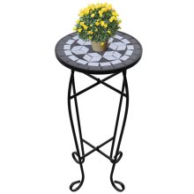 New Balcony Mosaic Side Coffee Table Plant Flower Terrace Black Wedding Dining