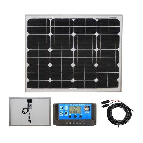 Mono 50W Solar Panel Kit 1