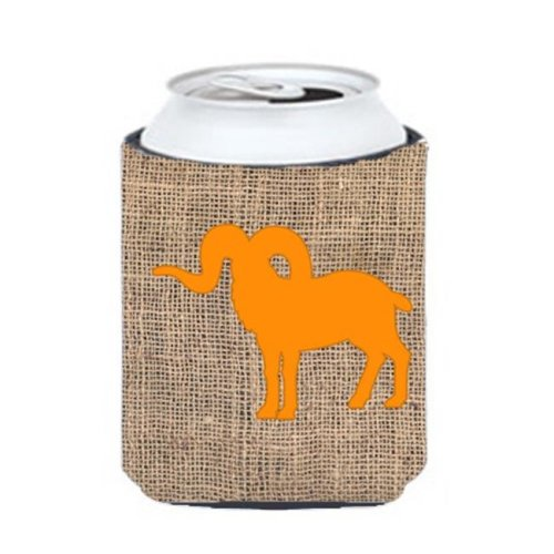 Sheep Burlap and Orange Can or Bottle  Hugger