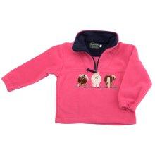 Childrens Pony Pink Fleece Sweater