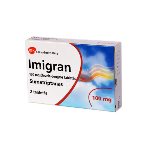 Imigran 100mg 2 tablets  is used for the emergency treatment of migraine attacks.