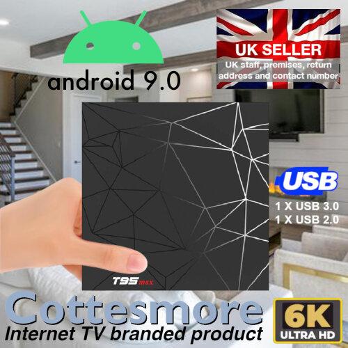 T95 MAX Android 9.0 TV Box 2Gb+16Gb Quad Core 2021 8K Dual WiFi