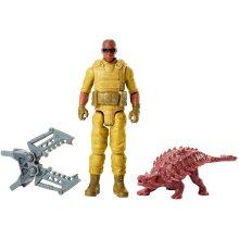 Jurassic World FMM05 Basic Figure Mercenary and Ankylosaurus