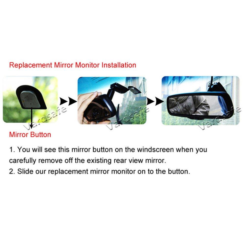 Emblem Reversing Backup Camera 2011-2018 Replacement Rear View Mirror Monitor for Ford Ranger Vardsafe VS668R