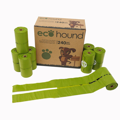 240pk Ecohound Small Dog Waste Bags With Easy Tie Handles