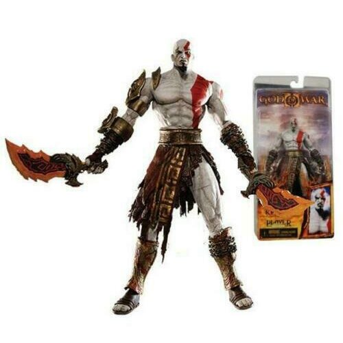 NECA God of War Flaming Blades of Athena Kratos PLAYER 7""