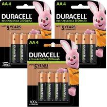 12pc Duracell Rechargeable Ultra AA Batteries - 3 x 4pk Batteries