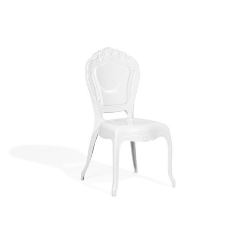 Set of 2 Accent Chairs Acrylic White VERMONT