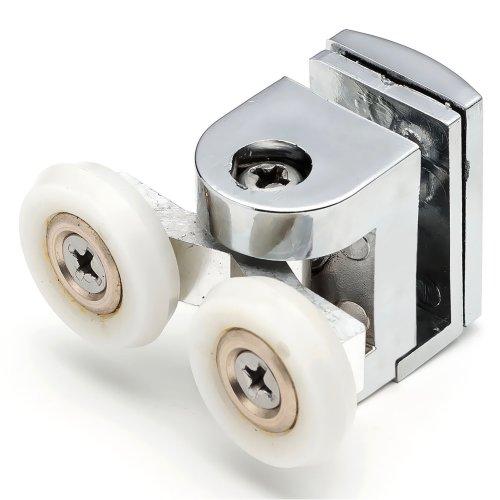 2 x Twin Top Shower Door Rollers/Runners/Wheels 22mm Wheel Diameter B3