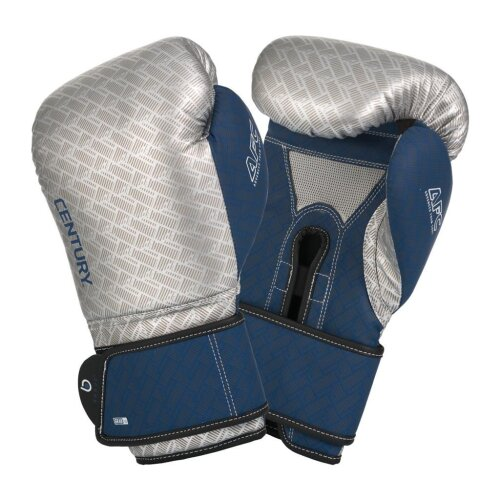 Boxing Gloves 16oz - Silver/Navy - MMA, Boxing, Puching Practice