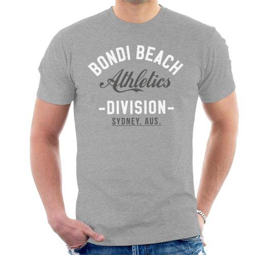 (Medium, Heather Grey) Bondi Beach Athletics Division Men's T-Shirt