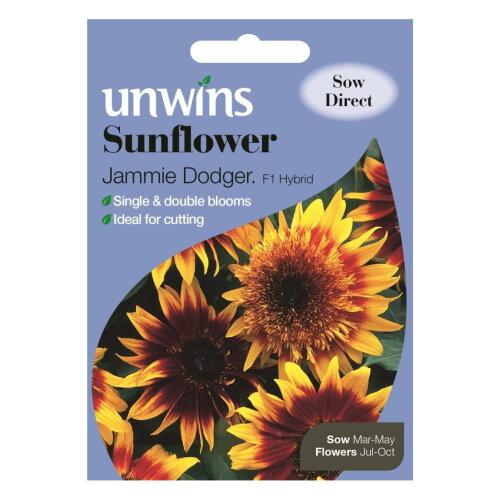 Unwins Grow Your Own Jammie Dodger F1 Sunflower Flower Seeds