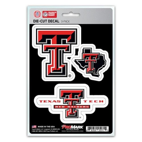Pro Mark DST3U071 Texas Tech Decal - Pack of 3
