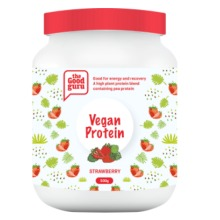 Vegan Strawberry Protein Powder, Pea Plant, Plant-Based