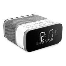 Siesta S6 Alarm Clock Radio by Pure - DAB+ and FM Radio with Bluetooth - 40 Presets - CrystalVue Display - USB Mobile Charging - 4 Alarms - Polar