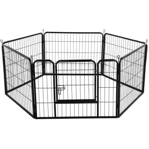 KANKOO Puppy Pen Dog Playpen Playpen For Dogs Pet Pen Dog Pen Guinea Pig Pen Cat Playpen Puppy Pens For Indoors Large Animal Play Pen Portable Dog Pen brown