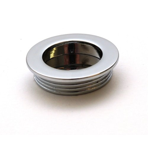 Recessed Flush Sliding Door Handle Pull  Circle 40 x 35 x 10mm Chrome