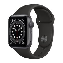 Apple Watch Series 6 (GPS, 40mm) - Space Grey With Aluminium Case And Black Sport Band