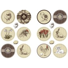 Stickers sheet 9x14 cm, Spring Time 4 asstd sheets 2 design sets