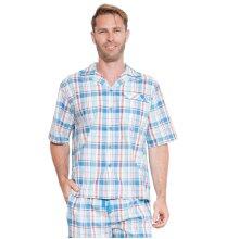 Cyberjammies 6221 Men's James Blue Check Pajama Top