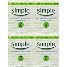 Simple Soap Bar 125g Twin Pack x 4 Packs