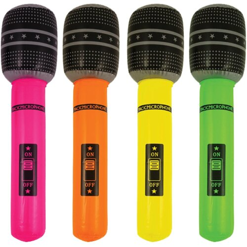 Henbrandt 4 Inflatable Microphone Party Accessories